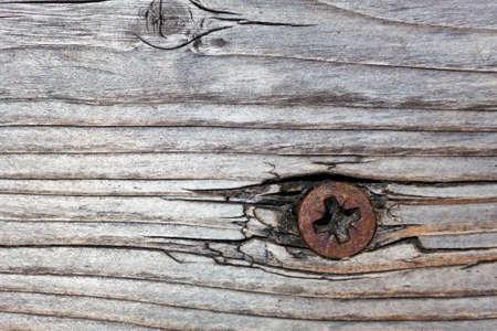 tornillos: tornillo oxidado en madera