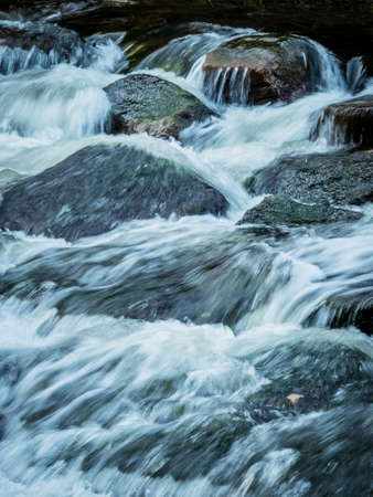 creek: a creek with rocks and running water. landscape experience in nature.