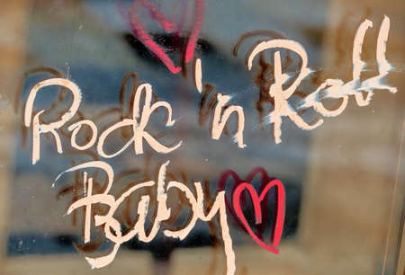 50s: scripture rockn roll baby, a symbol of music, protest, 50s