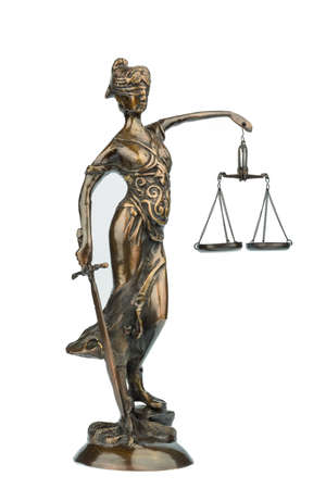 roman blind: sculpture of the justitia, symbol photo for equity and justice Stock Photo