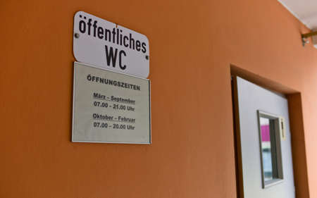 enteric: public toilet, sign, symbol photo for hygiene, cleanliness and infection risk