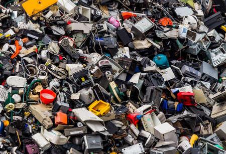 scrap metal in a junkyard waiting for their disposal