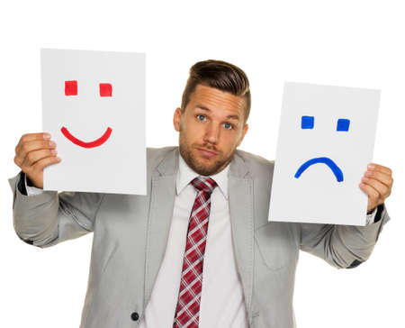 whether: a manager or entrepreneur can not decide whether he should laugh or cry