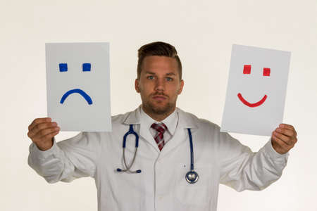 whether: a doctor can not decide whether he should laugh or cry