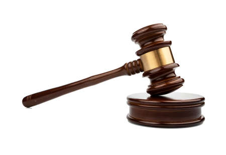 decisionmaking: auction hammer or gavel, symbolfoto of authority and decision-making Stock Photo
