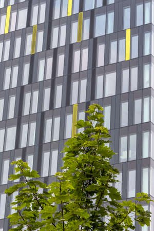 immobilien: modern apartment building, symbol of housing, real estate, anonymity