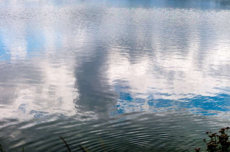 undisturbed: water surface, symbol photo for silence, contemplation and background