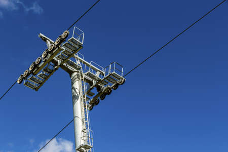 holydays: chairlift and blue sky, a symbol of transportation, ski,