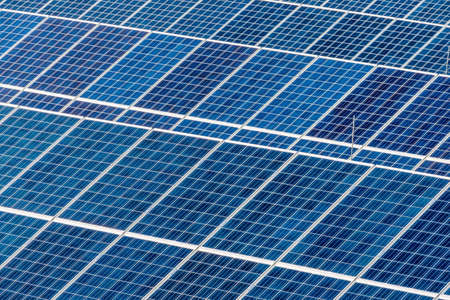 environmentally: panels of a solar power plant. solar energy is nachhaltug and environmentally friendly.