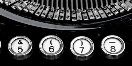 earlier: keys of an old typewriter. symbol photo for communication in earlier times