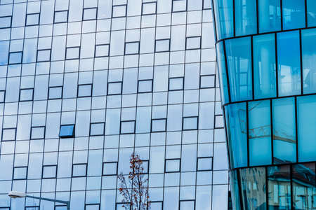 immobilien: the windows of a modern building for offices