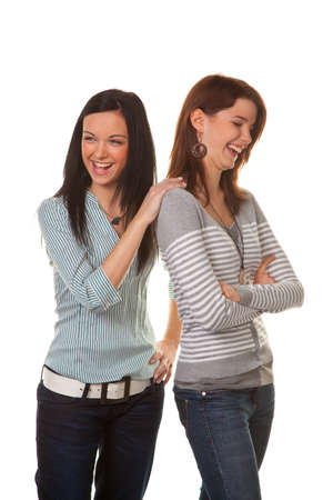 argumentative: two young women snapped and insults in a dispute