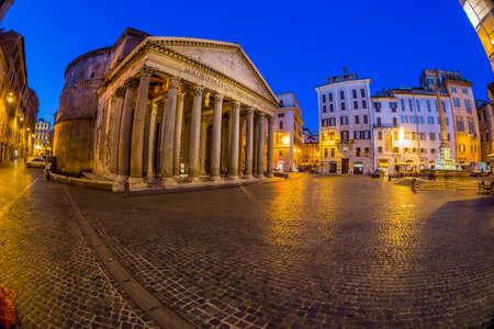 pantheon: italy, rome, pantheon. night scene