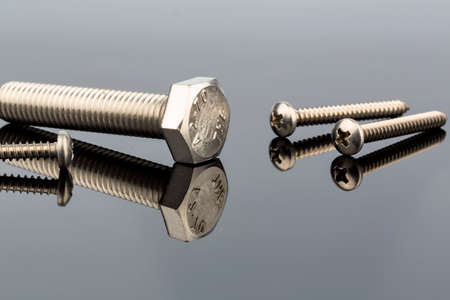 screw: several screws in the workshop in a commercial operation.