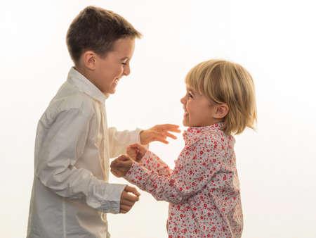 boy lady: two children play