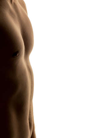 thinness: a man has taken with a successful diet much body weight. Stock Photo