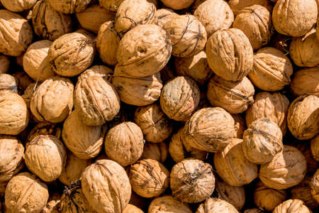 dissimilarity: many walnuts close up, solve problems icon, fullness, hardness