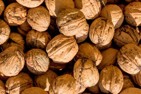 dissimilarity: many walnuts close up, solve problems icon, fullness, hardness