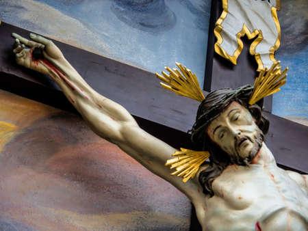 kruzifix: Kreuzigung Jesus Christus. Symbol Foto für Ostern. Lizenzfreie Bilder