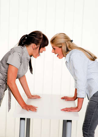 dispute: dispute among employees at work in an office