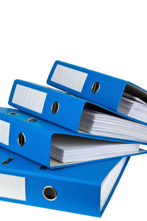 bureaucratic: file folder with documents and documents. retention of contracts. Stock Photo