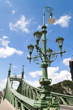the liberty bridge in budapest (hungary). szabadság hid. Stock fotó