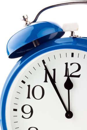 ultimatum: 11:55 on a clock. decision time