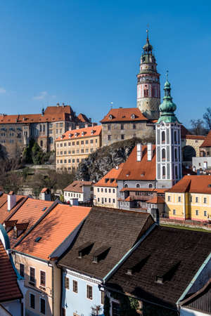 krumlov: the czech town of cesky krumlov in southern bohemia