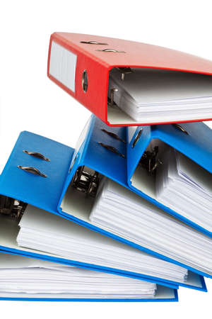 file folder with documents and documents. retention of contracts. Stock Photo
