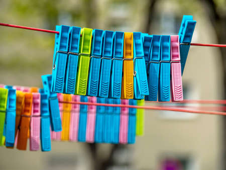 gamut: colorful clothespins on a clothes line.