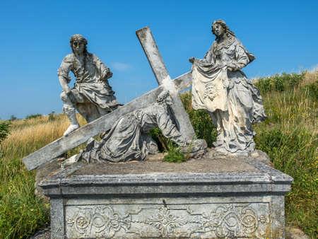 calvary: austria, lower austria, retz. the way of the cross at calvary group. veronica with the cloth