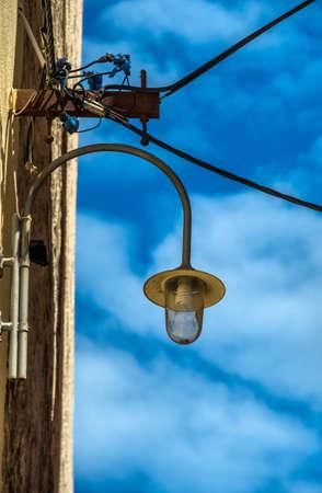 energy needs: lantern of street lighting
