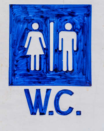 incontinence: toilets sign. toilet for men and women Stock Photo