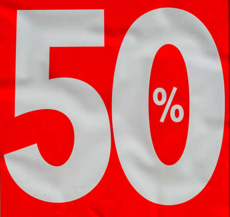 there finally sale a decline of 50 percent