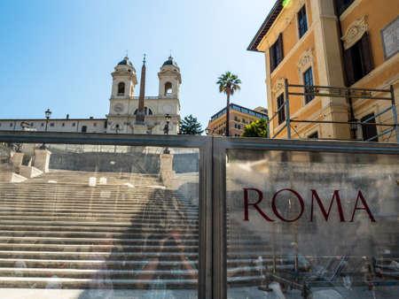 italy, rome, spanish steps. Stock Photo