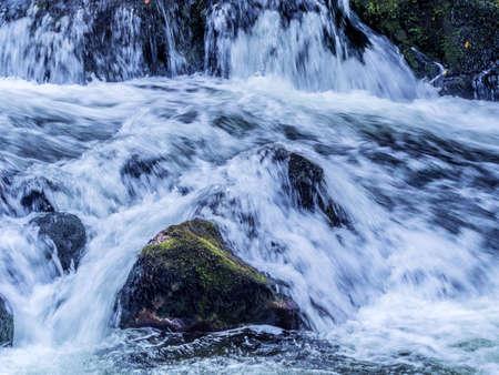 relaxen: austria, roßleithen. bach pießling. crisp, clean, fresh water from the austrian alps Stock Photo