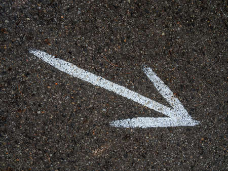 doldrums: on a road with an arrow painted