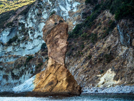 interesting rocks in a bay in central italy Stock Photo