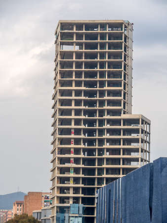 immobilien: after the economic crisis, many buildings were not completed in barcelona. Stock Photo