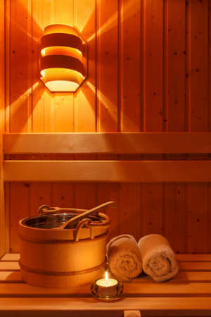 wellness and spa in the sauna
