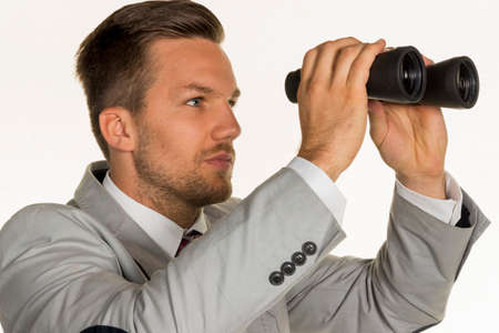 doldrums: manager with binoculars