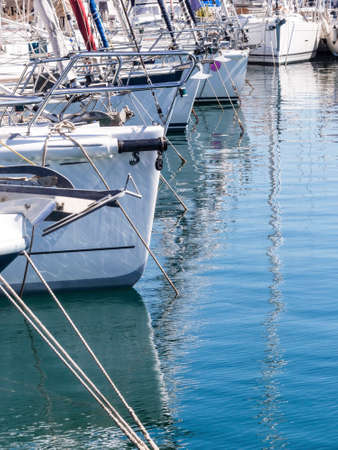 yachts in a harbor, symbol photo for vacation, cruise, luxury Stock Photo