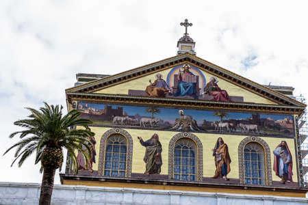 italy, rome, church: san paolo fuori le mura Stock Photo