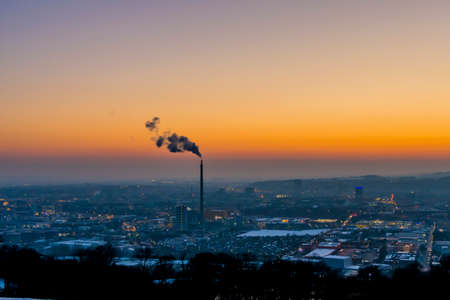 particulate: austria, linz, industrial area Stock Photo
