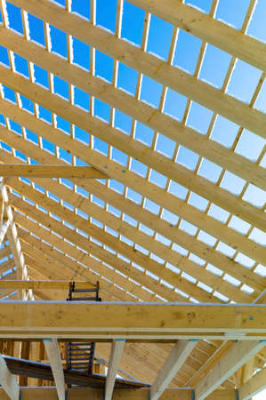 wooden roof construction