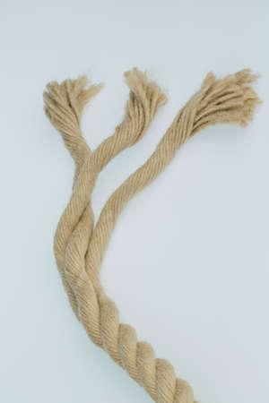 elasticidad: trozo de soga