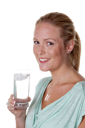 purely: woman drinking a glass of water