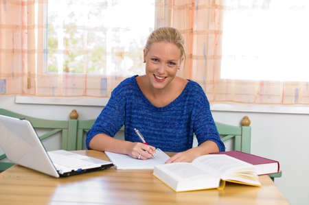 student studying for her studies Stock Photo