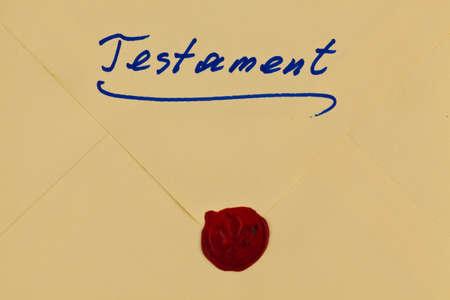 Testamento en alemán Foto de archivo - 76847208