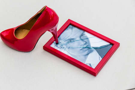 picture frames and stiletto